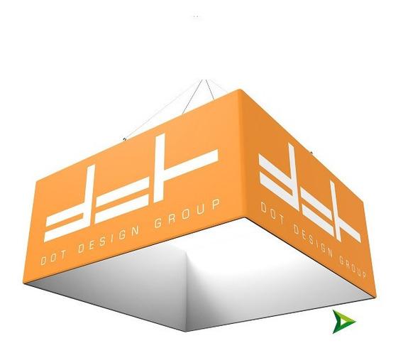 Colgante Cuadrado Portátil 3x3x1m Stand Expos / Imp Tela