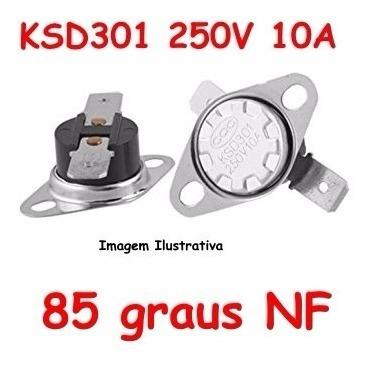 Termostato Ksd301 85 Graus - Normal Fechado - Nf Nc