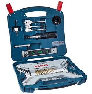 Kit Bosch X-line 100 Piezas Titanio Mechas Puntas Nivel