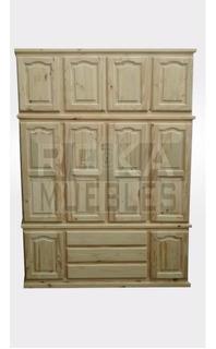 Ropero Placar De 3 Piezas Desmontable 1.60x0.50x2.30 Pino