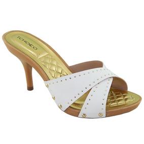 d811b4d7d8 Tamancos Femininos Salto Fino - Sapatos no Mercado Livre Brasil