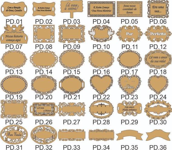 Vetores 43 Modelos Placas Noivas E Outras