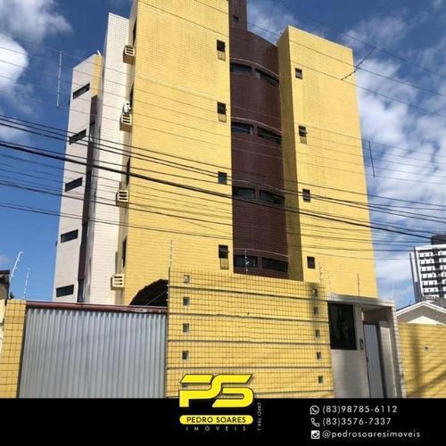 Apartamento Com 3 Dormitórios À Venda, 67 M² Por R$ 155.000 - Altiplano - João Pessoa/pb - Ap3248
