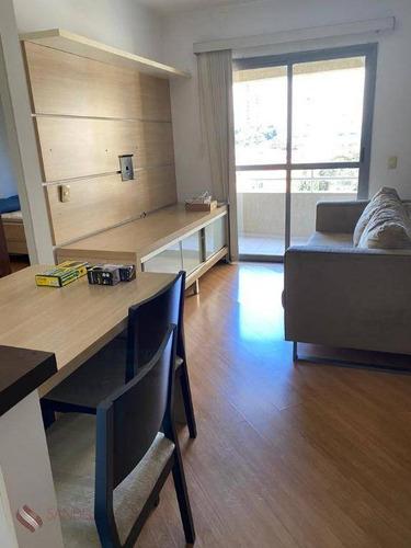 Lindo Apto Mobiliado Para Aluguel No Brooklin, 01 Dorm, 45m, 01 Vaga, Piscina E Academia. (f) - Ap1153