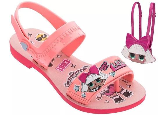 Sandália Infantil Feminina Lol Diva Bag 22117 Bolsa Lol