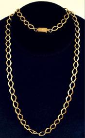 Cordão Banhado A Ouro 24k Groumet Com Fios Longos 5mm 67cm