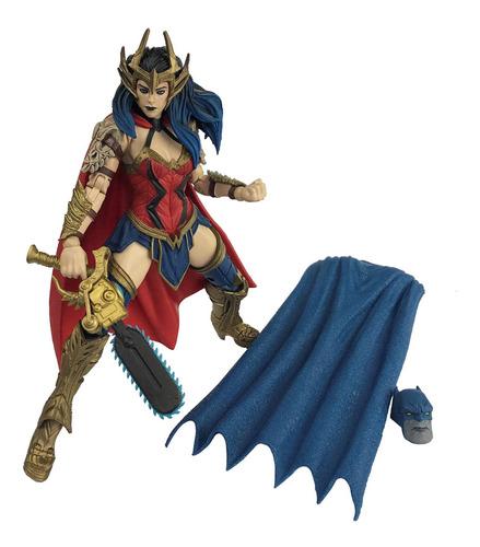 Imagen 1 de 3 de Figura Articulada Wonder Woman Death Metal Mcfarlane Dc.