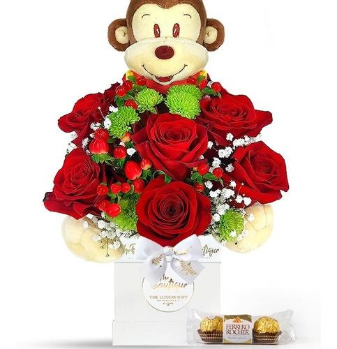 Imagen 1 de 2 de Florería Enamorados San Valentin Arreglo Rosas Sweet Heart