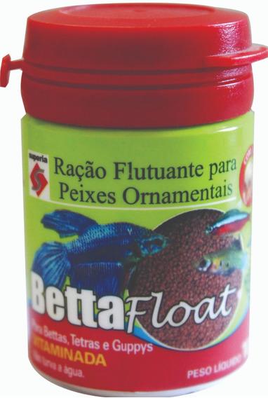 Ração Betta Float 10 Gramas Para Peixes Ornamentais Beta Aquário