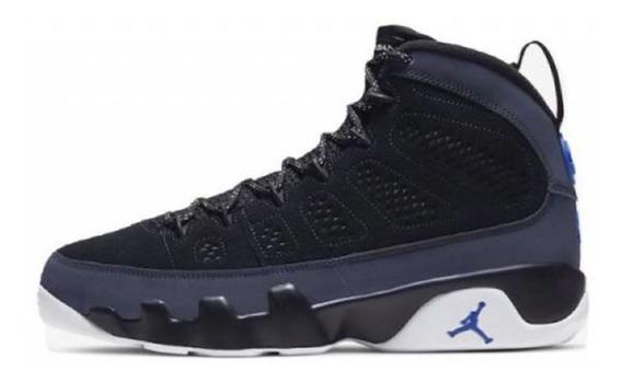 Tenis Nike Air Jordan 9 Retro Black/white-racer Blue