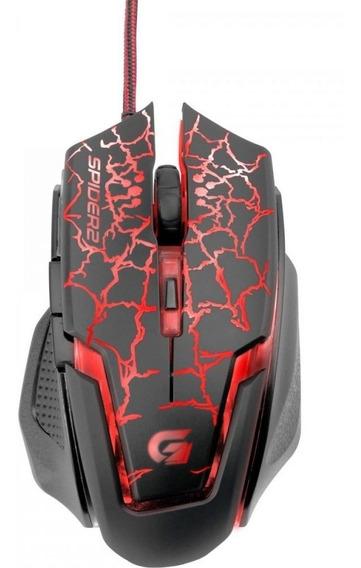 Mousegamer Usb 3200dpi Spider 2om-705 Preto/vermelho