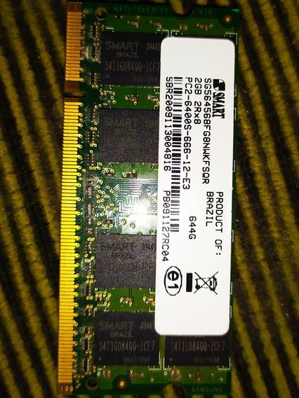Memória Smart 2gb Ddr2 Sg564568fg8nwkfsqr Pc2 6400s 666 12 E