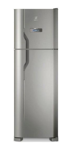 Geladeira frost free Electrolux DFX41 inox com freezer 371L 110V