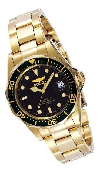 Invicta Pro Diver 8936 - Reloj Hombre 37.5 Mm, Dorado/negro