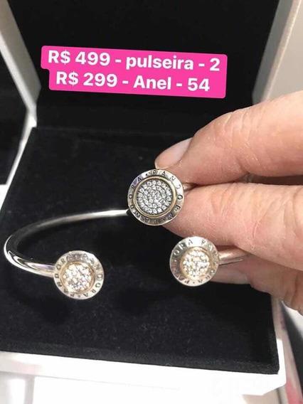 Conjunto Pulseira E Anel Pandora Originais