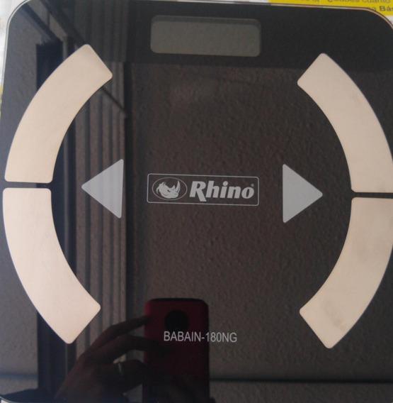 Báscula Para Baño Rhino Mod. Babain-180ng, Pesa Hasta 180kg