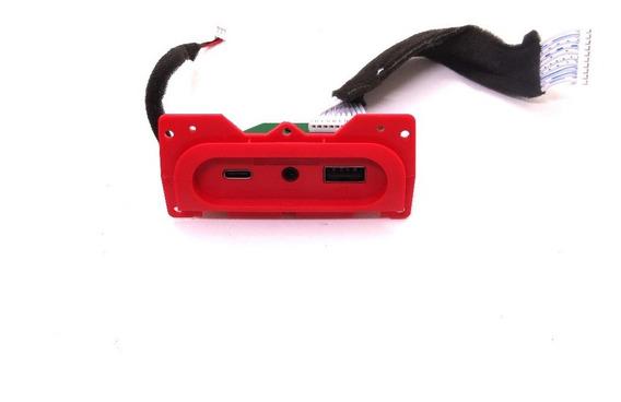 Conector Placa Usb Caixa Som Jbl Charge 4 (gg) Vermelho.