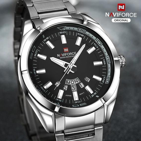 Relógio Masculino Esportivo Luxo Naviforce Original Preteado