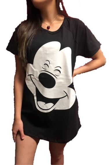 Remeron De Mujer Remera Larga De Dama Con Personajes Disney
