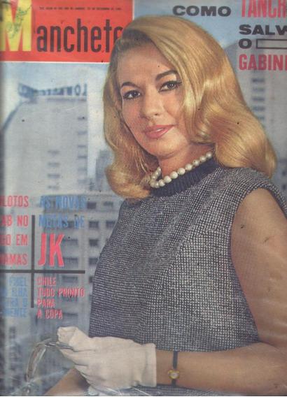 Manchete 1961.marcia De Windsor.fab.jk.cacau.dedini.fidel.mo