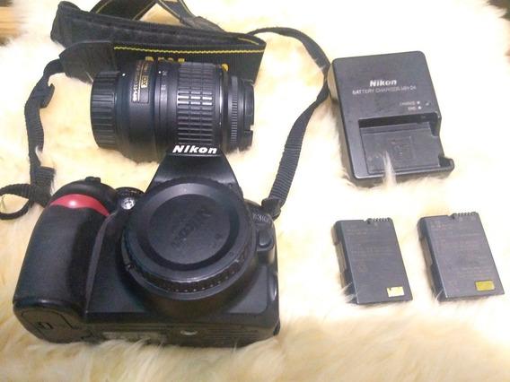 Camera Nikon D3000 + Kit 18-55mm + 02 Baterias + Cartão 16gb