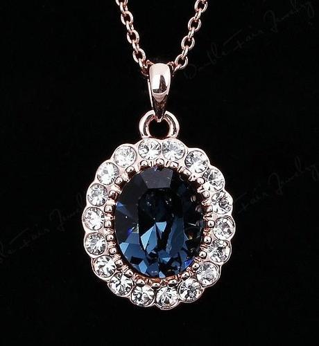 Collar Con Swarovski Crystals Modelos Variados Estuche Stock