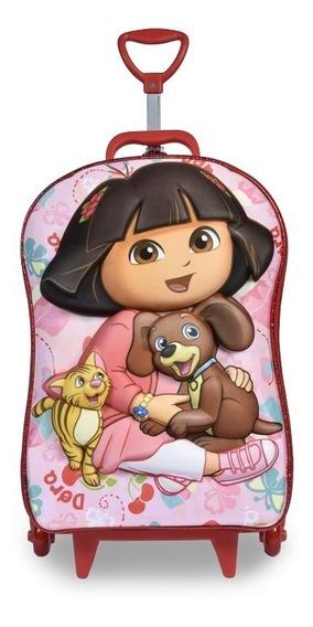 Mochilete Dora Pets 3d Escolar Maxtoy Mochila