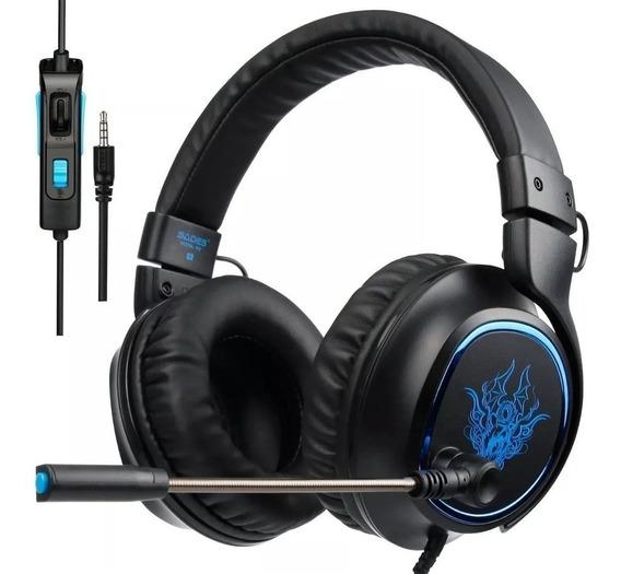 Headphone Headset Gamer Fone Microfone Ps4 Xbox One R5