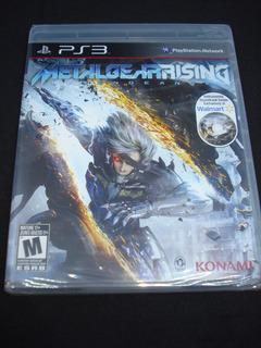 Metal Gear Rising Revengeance Ps3 Nuevo Con Disco Bonus!!!!!