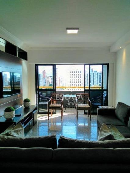 Apartamento Com 4 Quartos À Venda, 160 M², Gabinete, 3 Vagas, Financia - Aldeota - Fortaleza/ce - Ap1708
