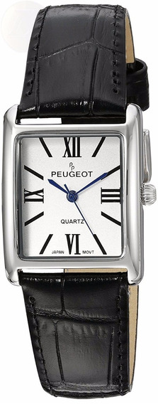 Reloj Peugeot Dress Acero Piel Negro Mujer Cuarzo 3036sbk