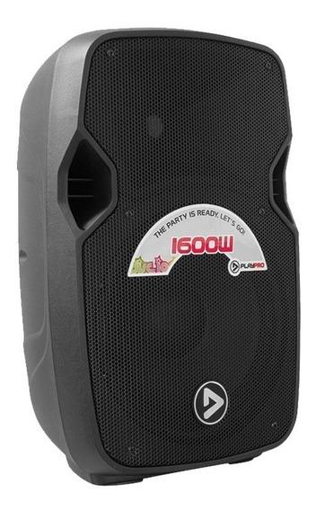 Parlante Activo Pl1600x De 2 Vías Fm, Bluetooth, Usb