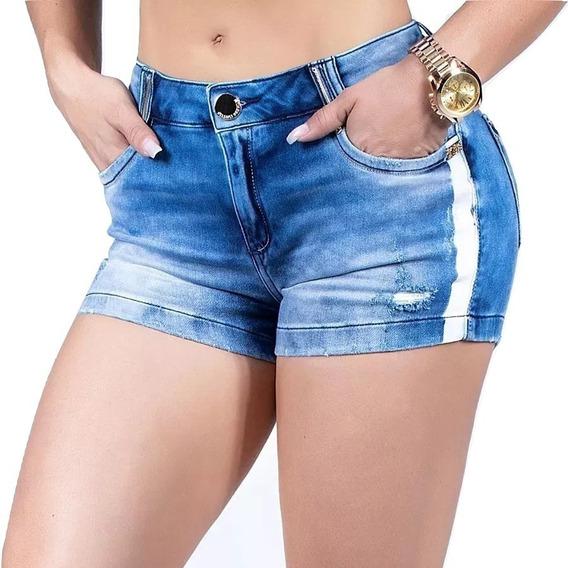 Shorts Pit Bull Jeans Modela Bumbum Original Com Elastano
