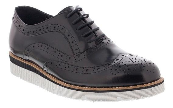 Zapato Hombre F.nebuloni Casual Tipo Oxford Color Negro