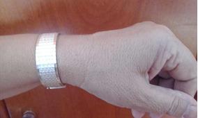 Pulseira Bracelete Feminino De Prata 925 Antiga (424j )