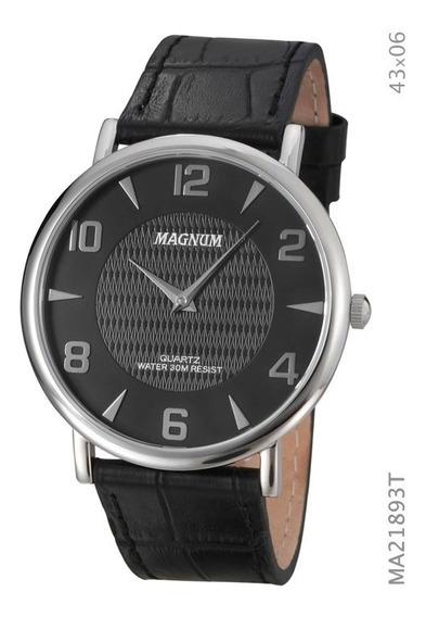 Relógio Masculino Magnum Social Slim Ma21893t Prata