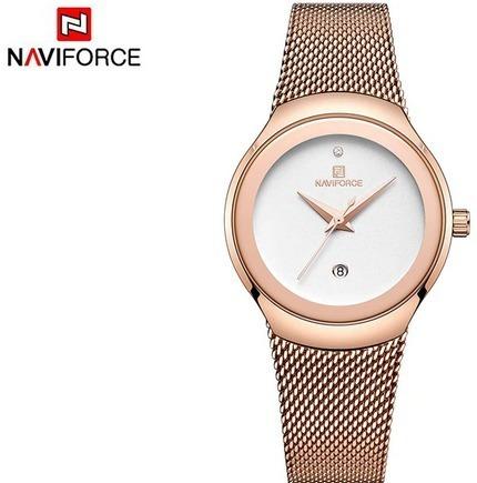 Relógio Fem Naviforce 5004l Inox Frete Grátis 12 X S/juros