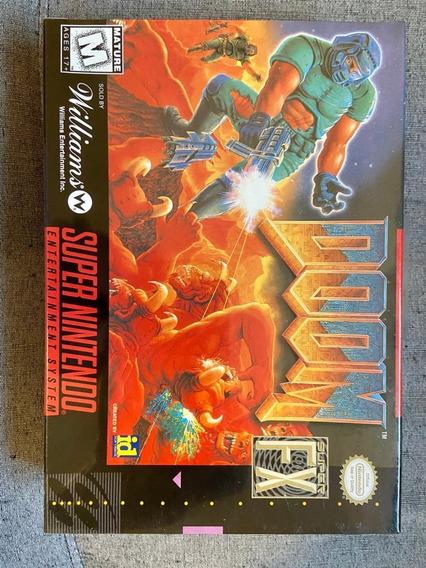Doom Snes Super Nintendo Novo Selado De Fábrica