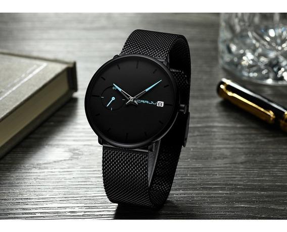 Relógio Style Crrju Masculino Pulseira Aço Inoxidável