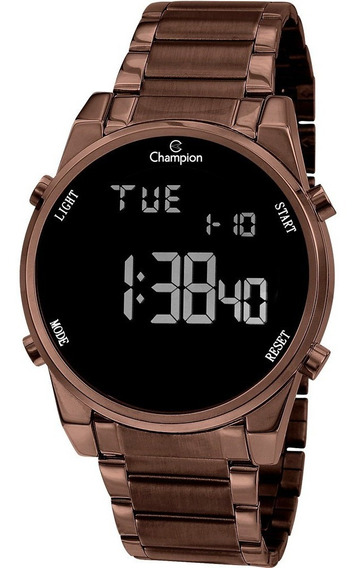 Relogio Digital Ch40071r Champion Chocolate