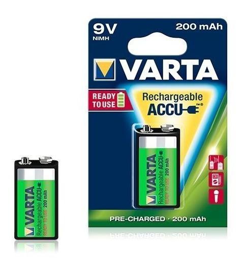 Bateria Varta 9v 200mah Recarregavel - ( Duracell )
