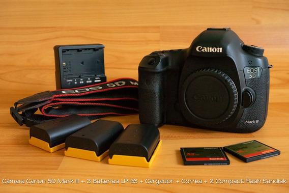 Cámara Canon 5d Mark Iii + Lente Kit Serie L 24-105mm F4