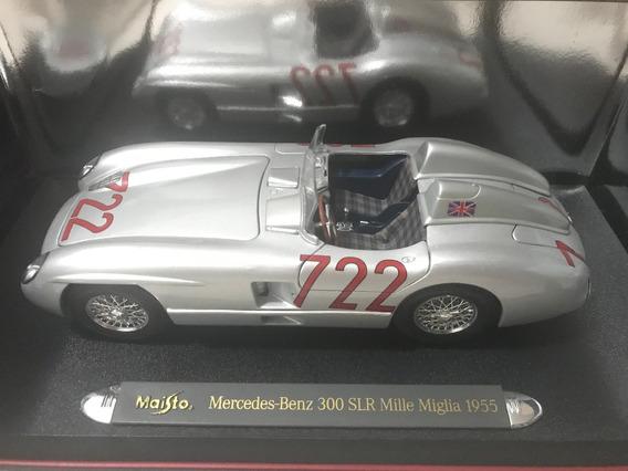 Miniatura Mercedes 300 Slr Mille Miglia 1955 C/ Base Vitrine