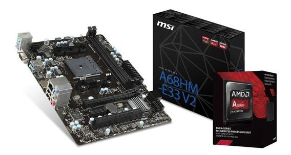 Combo Actualización Amd A6 7480 3.8ghz + Mother A68hm Fm2 C1