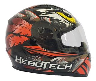 Casco Integral Hebotech Aguila Naranja Dot