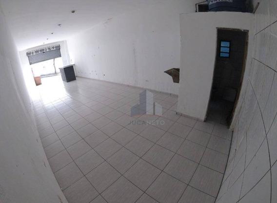 Salão Para Alugar, 52 M² Por R$ 800,00/mês - Jardim Zaira - Mauá/sp - Sl0022