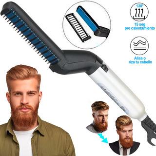 Plancha Barba Alisador Cepillo Electrico Electrico Barberia