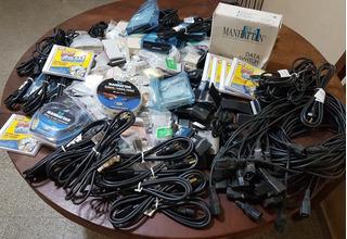 Lote Cable Power, Caja De Teléfono Con Rj45 Y Mas Productos