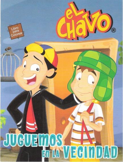 Libros Para Iluminar El Chavo Amigos Bolo Fiestas Colorear