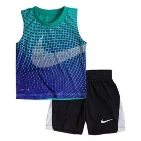 Nike Conjunto 2 Peças Regata Bermuda Esporte Original